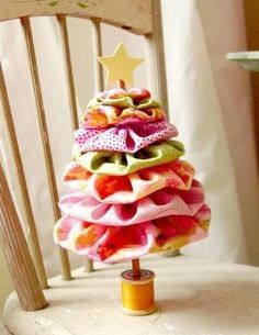 Alberi di Natale bizzarri: stoffa - Parole a Colori
