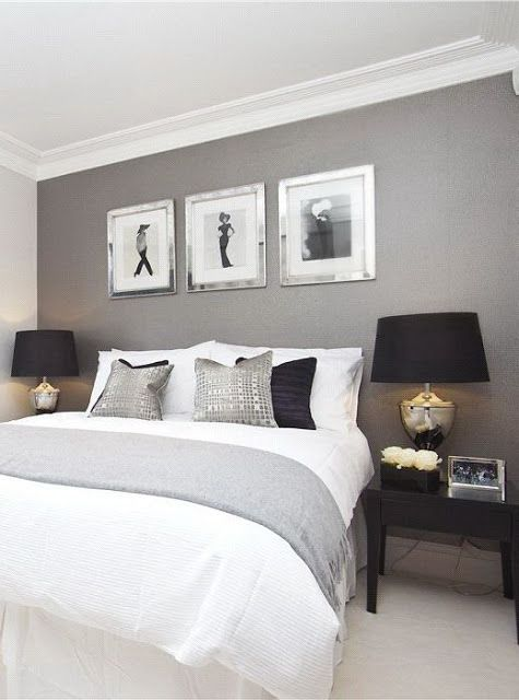 quartos com paredes pintadas de cinza