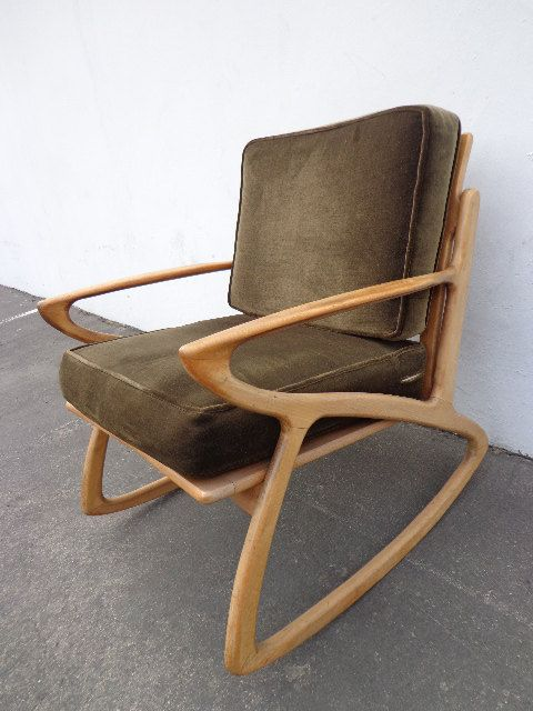 ... Rocking Chair mid century modern vintage retro rocker glider armchair