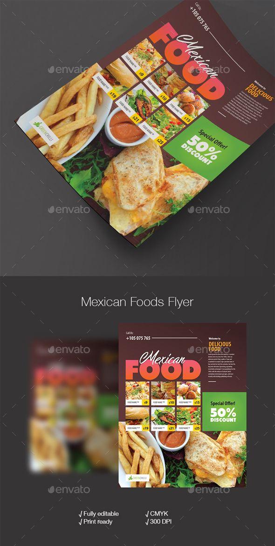 food flyer restaurant flyers template is editable text logo