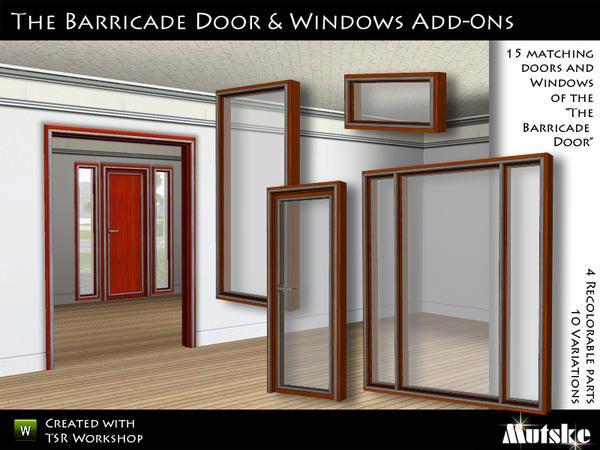 Mutske S The Barricade Door Amp Window Add On Sims 3