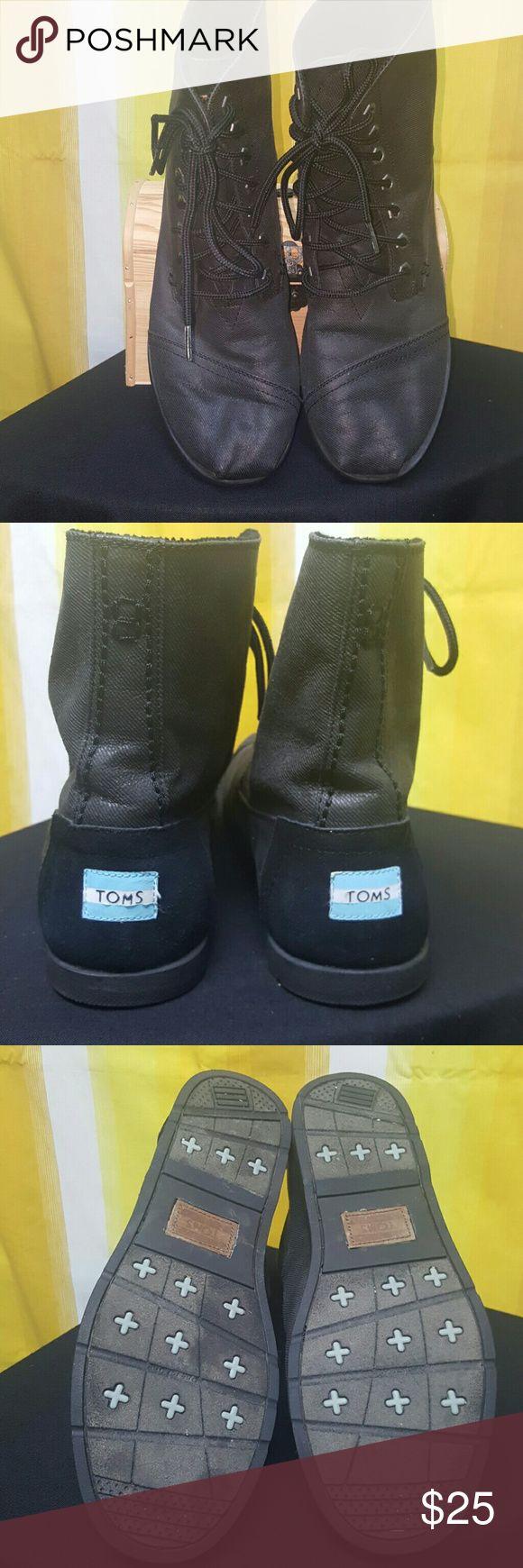 MENS TOMS BLACK HIGH TOP TOMS TOMS Shoes