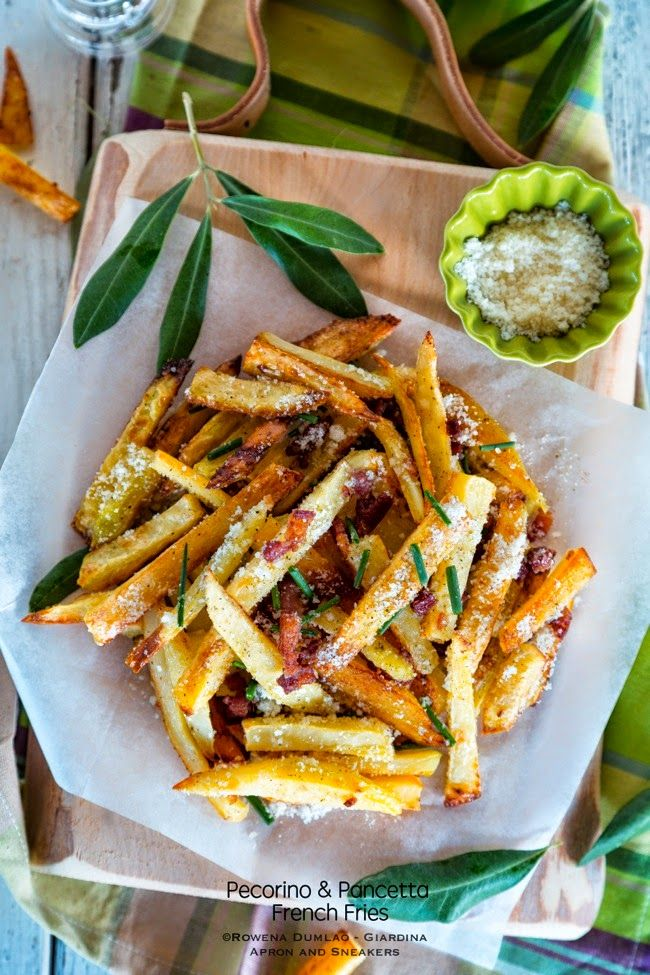 Apron and Sneakers - Cooking & Traveling in Italy and Beyond: French Fries alla Carbonara (Pecorino and Pancetta French Fries)