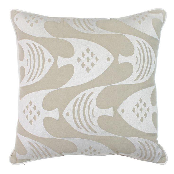 Fish Fish Neutral Cushion 45x45cm