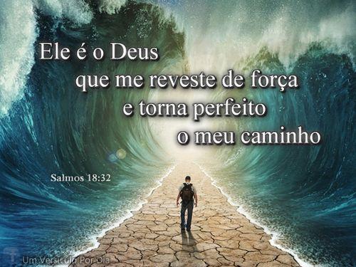 ''Ele é o Deus que me reveste de força e torna perfeito o meu caminho.'' -Salmos 18:32