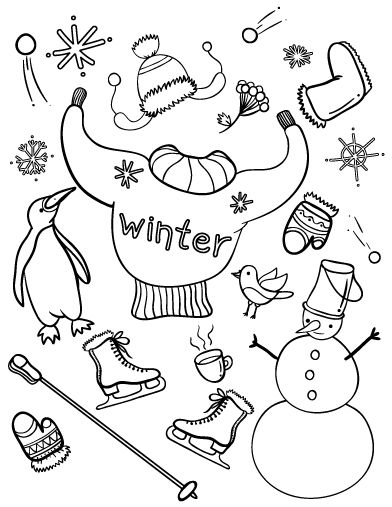 Printable Winter Coloring Page Free PDF Download At