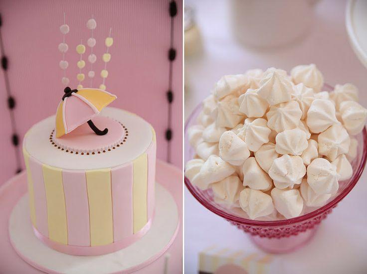 umbrella on cake