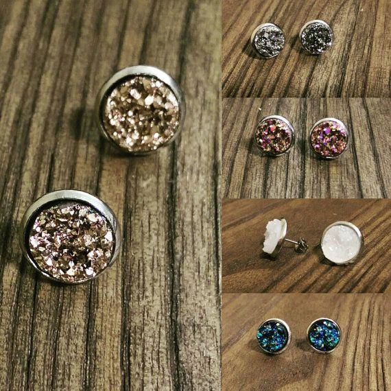 Check out this item in my Etsy shop https://www.etsy.com/au/listing/470611401/sparkly-faux-druzy-stud-earrings-made-of