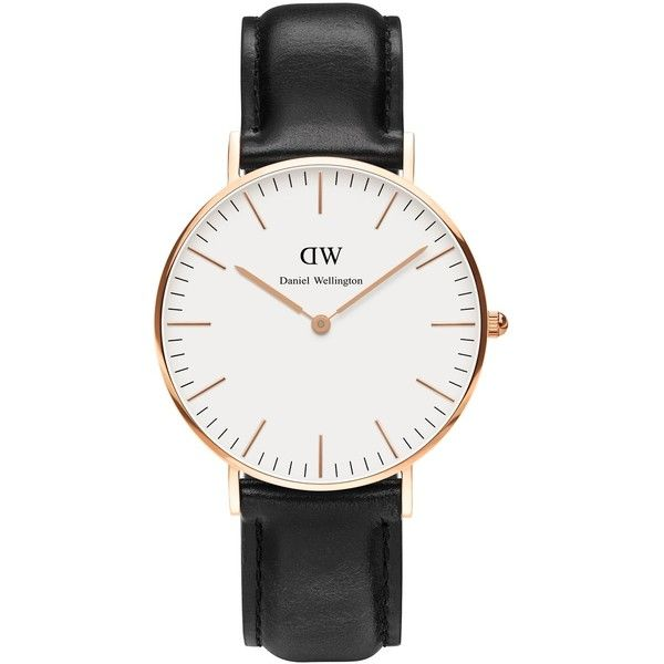 Daniel Wellington Classic Sheffield Lady ($180) ❤ liked on Polyvore featuring jewelry, watches, daniel wellington and water resistant watches