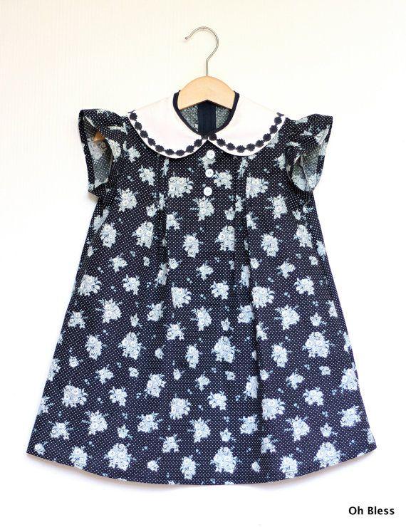 Retro vintage Girls dress: size 2  vintage design by OhBless