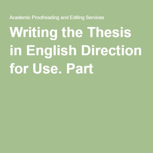 Dissertation in english