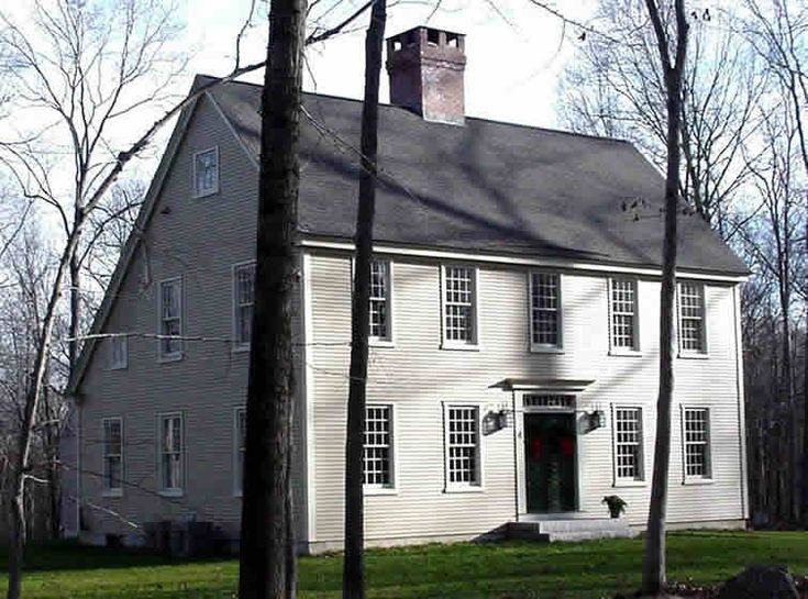 10 Delightful Salt Box Colonial House Plans 40847 Saltbox Houses Colonial House Primitive Homes