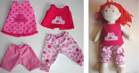 ´t Naaikamertje: Free Patterns : hose + tunika/kleid für Haba Puppe 38cm