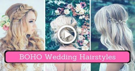 Boho Hochzeitsfrisuren (2018) – Böhmisches Hochzeitshaar für Brautjungfern – Weddings!