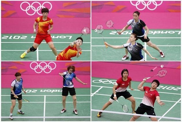 """Eight badminton players disqualified for throwing matches - The World Badminton Federation charged eight female players with misconduct on August 1, 2012 after four Olympic doubles teams had attempted to """"throw"""" matches to secure a more favourable draw later in the tournament. REUTERS/Bazuki Muhummad/Files"""