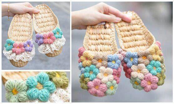 crochet chanclas hermosas