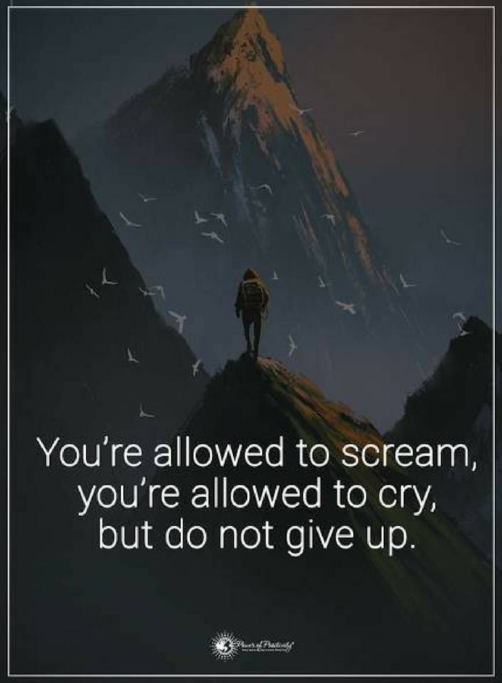 Quotes You are allowed to scream you are allowed to cry, but do not give up.