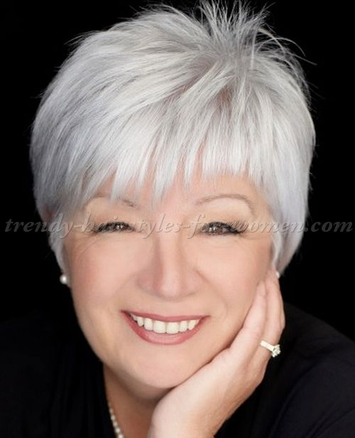 short+hairstyles+over+50,+hairstyles+over+60+-+short+grey+hairstyle                                                                                                                                                                                 More