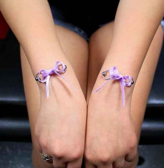 Or these corseted wrist piercings. | 17 Insane Piercings You Never Knew Existed