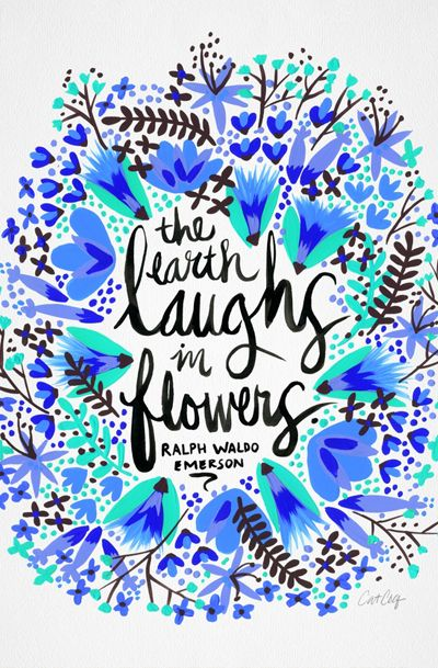 The Earth Laughs in Flowers – Turquoise & Blue