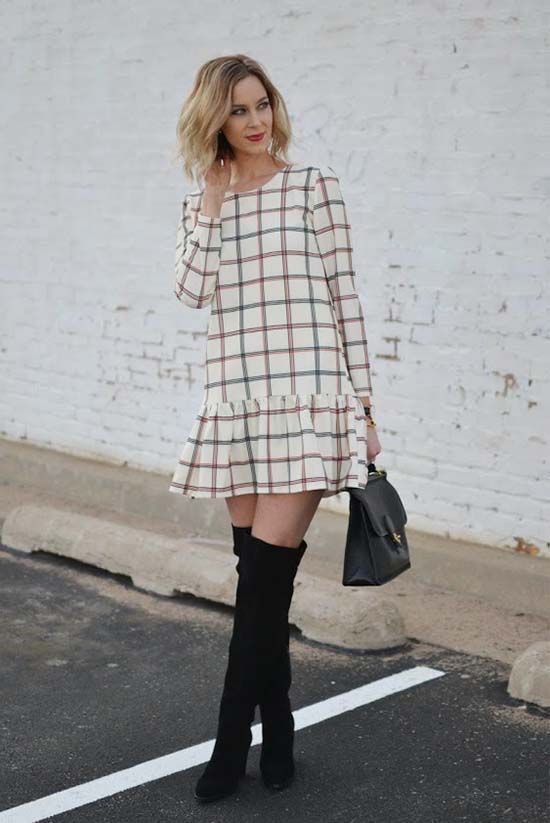 8591ac4ac544 30 Ways To Wear Over The Knee Boots | Pretty Clothes & Accessories |  Fashion, Style, Outfits