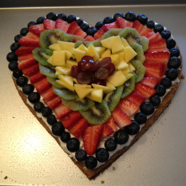 My Valentine Day Fruit Pie I Made For My Hubby : ) Came Out Perfect