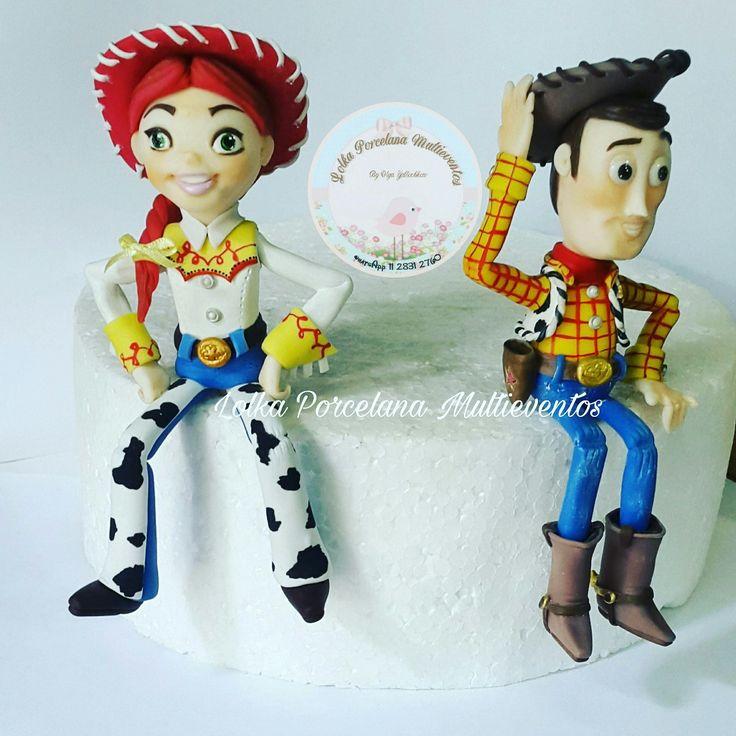 #ToyStory #Disney #Pixar #porcelanafría #Jessy #Woody por Lolka Porcelana Multieventos.
