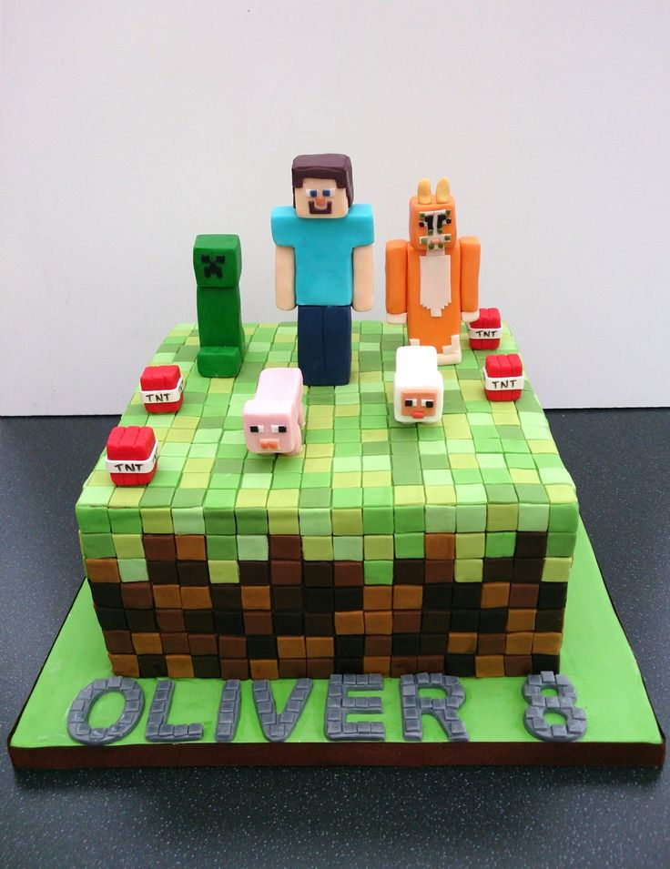 9 best Minecraft images on Pinterest Birthday cakes Birthday cake