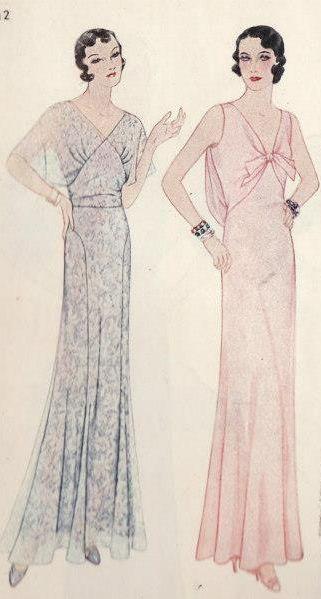 30s evening dress pattern bo
