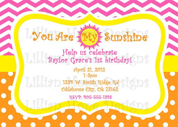 157 best Sunshine images on Pinterest Birthday party ideas - fresh birthday invitation from a kid