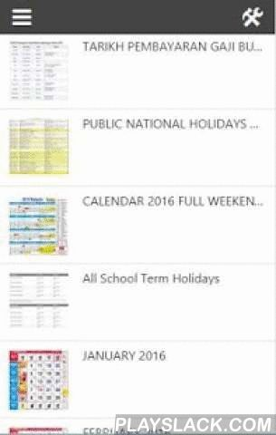 Calendar 2016 Malaysia Lunar  Android App - playslack.com ,  Malaysia Calendar Horse Lunar is a Calendar Malaysia that showing all the characteristic of Malaysia culture. It include all the Malaysia national and state public holidays, Malaysia school holidays and special event for all main race in Malaysia. For example like Chinese New Year, Hari Raya and Deepavali.This Horse Lunar Malaysia Calendar is convenient and easy to use for your phone or tablet.[Features]- Updated every year…