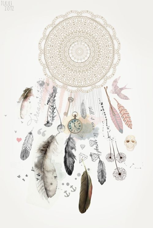 Kristenmakestattoos I Really Like The Muted Colors: LOVE Dream Catchers. I Like How This Makes Me Think