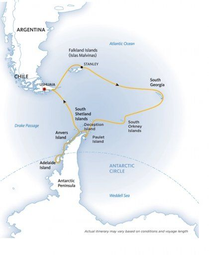 Crossing the Circle via Falklands and South Georgia | Quark Expeditions