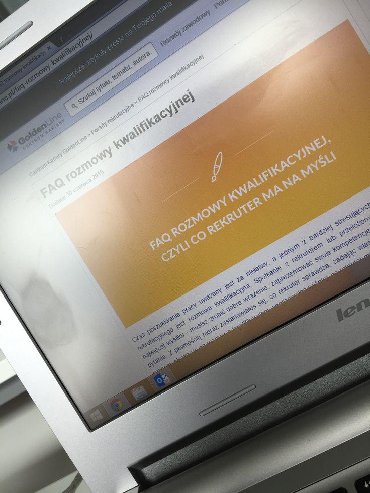 Zobacz listę najczęściej zadawanych pytań podczas rozmowy kwalifikacyjnej. Dowiedz się jakie są intencje osoby prowadzącej rozmowę, jakiej odpowiedzi oczekuje i w jakim celu zadaje okreslone pytania. Zapoznaj się z FAQ rozmowy kwalifikacyjnej autorstwa Goldenline.pl i sprawdź opinie doświadczonych rekruterów - w tym również rekruterów Grupy Progres!   http://kariera.goldenline.pl/faq-rozmowy-kwalifikacyjnej/