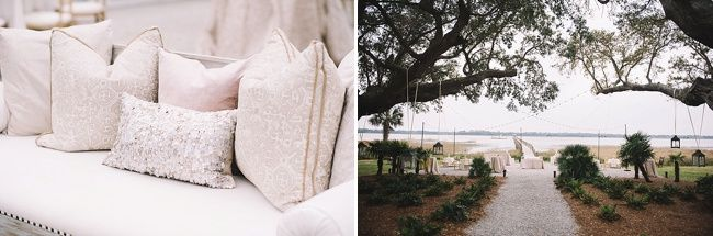 Anna & Woody's wedding decor at The Lowndes Grove Plantation | Charleston, SC | Real wedding featured on The Wedding Row | Winter Wedding Inspiration | Photo by Jennings King Photography