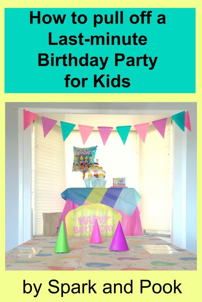 How to Throw a Last Minute Birthday Party for Young Kids - Spark and Pook