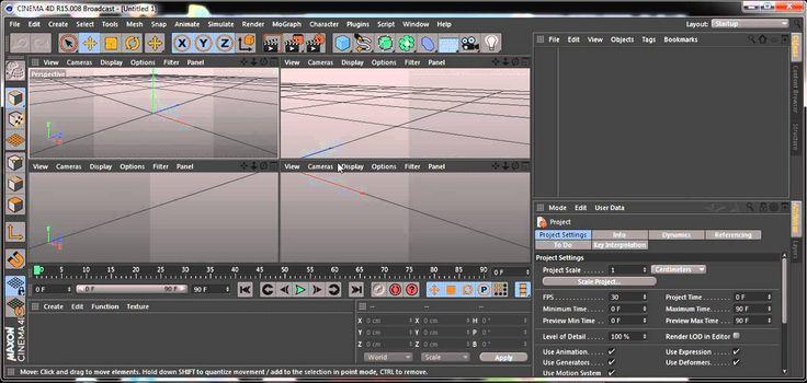 Curso de Cinema 4D - Introdução -  Área de Trabalho