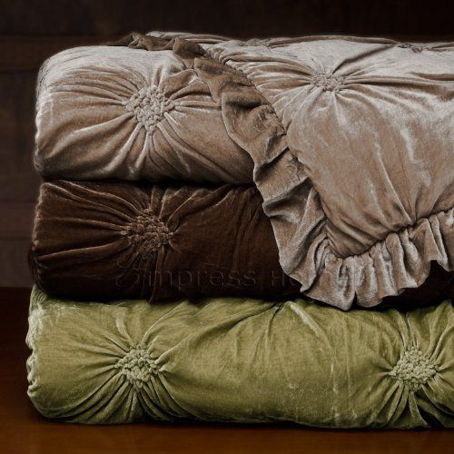 Empress Silk Velvet Comforter Set King Chocolate