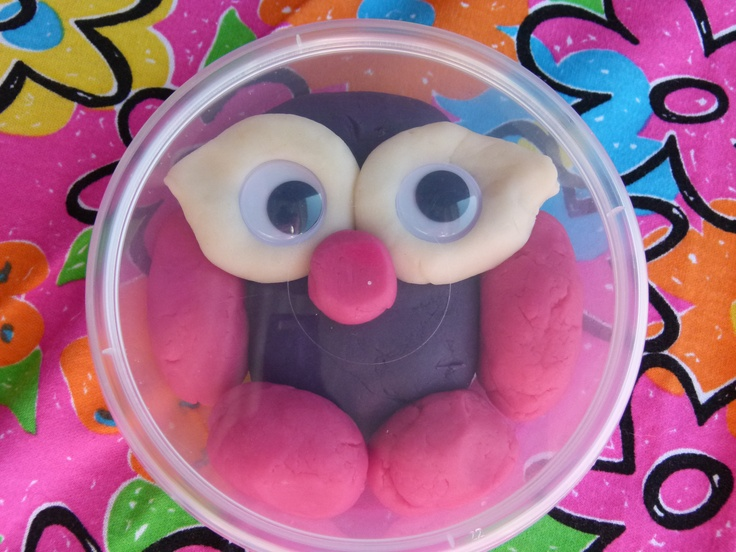 'Hootabelle the Owl' play dough thank you gifts for daughter's 2nd birthday