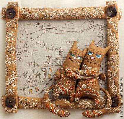 Животные ручной работы. Ярмарка Мастеров - ручная работа Влюбленные.... Handmade.