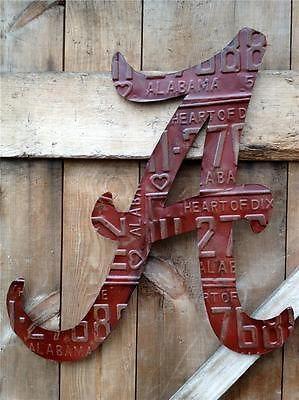 University of Alabama Crimson Tide Red License Plate Tag Art Heart of Dixie | eBay