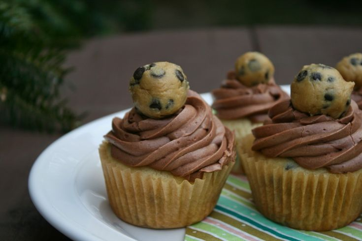 Chocolate Chip Cookie Dough Cupcakes (Vegan with a Gluten-Free Option)