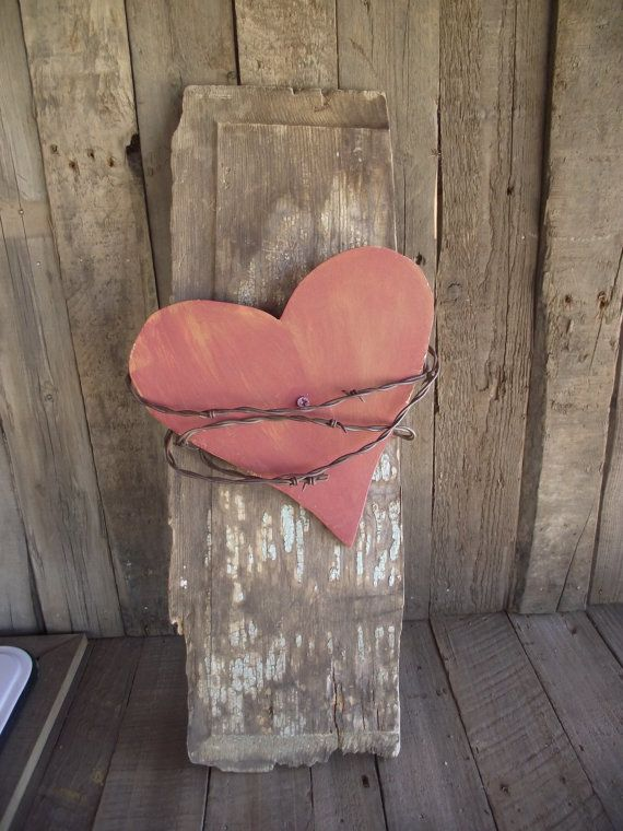 Rustic Barbed wire Heart Wall Hanging by RusticDesignsNM on Etsy, $50.00
