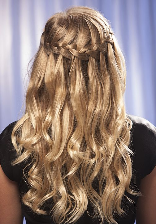 new style hair braids learn how to make a waterfall braid at home using our 7353