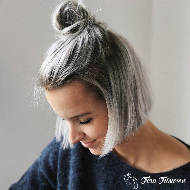 Erstaunliche Tagliche Bob Frisuren Fur 2019 Kurz Mob Lob Fur Alle Haare Grau Farben Haarfarben Graue Haare Highlights