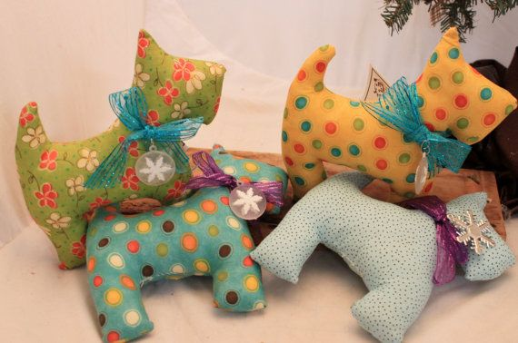Scottie Stuffed Scottie Dog by Liongate on Etsy