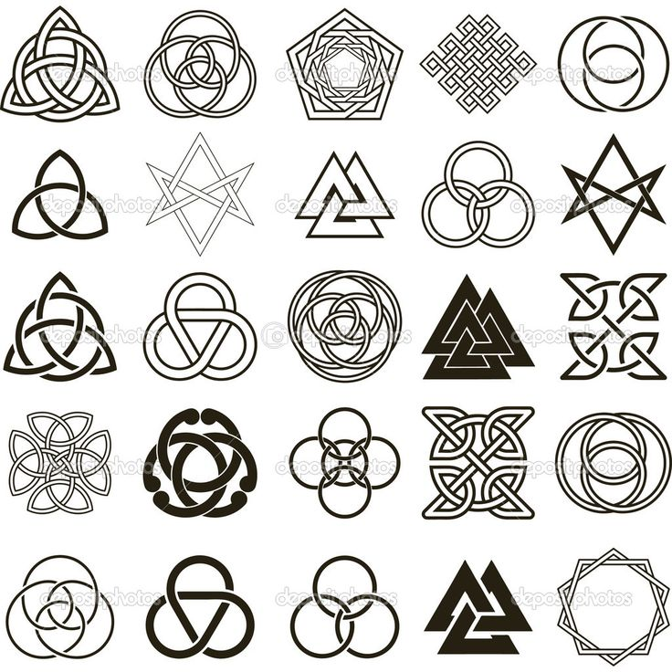 기호 아이콘 벡터의 집합입니다. 문신 디자인 모음