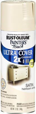 ainters Touch 2X 12 OZ Satin Heirloom White Spray Paint Interior/- one of the most popular shades to use + gloss finish!