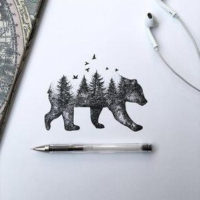 Zeichnungen: Alfred Basha – Verbaumte Tiere und vertierte Bäume