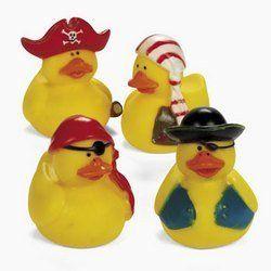 One Dozen (12) Mini Pirate Rubber Ducks Duckie Ducky Party Favors by OTC, http://www.amazon.com/dp/B000UIGVLY/ref=cm_sw_r_pi_dp_ML2nqb15ZY29G
